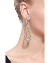VBH | Metallic White Gold Clip On Pendant Earrings | Lyst