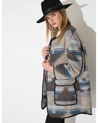 Pixie Market - Multicolor Ikat Spring Coat - Lyst
