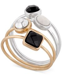Lucky Brand | Metallic Two-tone Ring Stack | Lyst