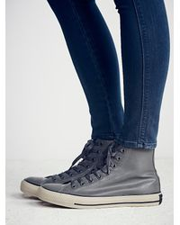 Free People | Gray Rubber High Top Chucks | Lyst