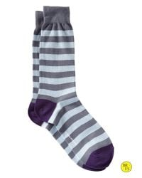 Banana Republic - Factory Wide Stripe Sock Davenport Blue for Men - Lyst