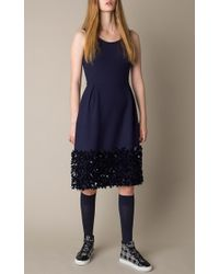 Mother Of Pearl | Blue Navy Embellished Bay Dress | Lyst