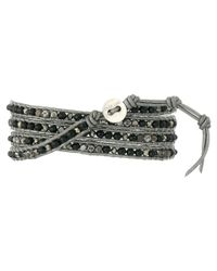 Chan Luu - 32' Black Mix/grey Wrap Bracelet - Lyst