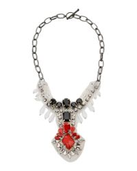 Pinko | Red Necklace | Lyst