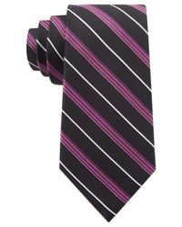 Michael Kors - Black Michael Triple Texture Stripe Slim Tie for Men - Lyst