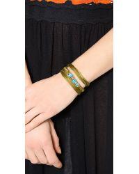 Aurelie Bidermann - Green Takayama Bracelet Turquoiseolivine - Lyst