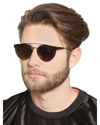 Retrosuperfuture - Black Giaguaro Acetate And Metal Sunglasses for Men - Lyst