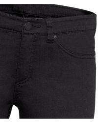 H&M | Black Superstretch Trousers | Lyst