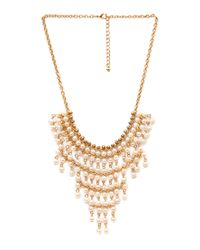 Forever 21 | Metallic On Point Bib Necklace | Lyst