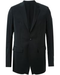 Thamanyah - Black Discolated Shoulder Blazer for Men - Lyst