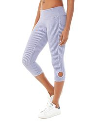 Alternative Apparel - Purple Pull Up Printed Stretch Leggings - Lyst