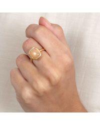 Astley Clarke - Metallic Tamborim Peach Moonstone Ring - Lyst