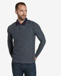 Ted Baker | Gray Funnel Neck Sweater for Men | Lyst