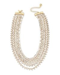 kate spade new york - Metallic Multi-Strand Crystal Statement Necklace - Lyst