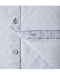 Onassis Clothing | Blue Indigo Jacquard Shirt for Men | Lyst