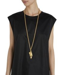 Valentino - Metallic Virgo Gold Tone Zodiac Necklace - Lyst