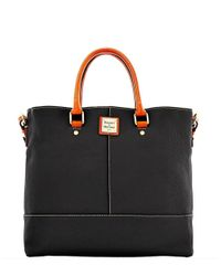 Dooney & Bourke | Black Pebble Leather Chelsea Shopper | Lyst
