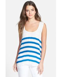 Plenty by Tracy Reese | Blue Back Tie Tank | Lyst