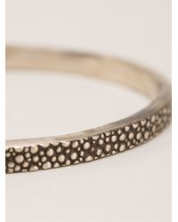 Henson   Metallic Thin Embossed Bangle   Lyst