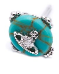 Vivienne Westwood - Blue Small Orbit Earrings - Lyst