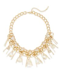 Saks Fifth Avenue | Metallic Multi-chain & Bead Necklace | Lyst