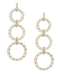 House of Harlow 1960 | Metallic Ring Drop Earrings | Lyst