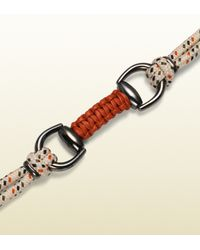Gucci - Red Blue Cord Bracelet with Horsebit for Men - Lyst