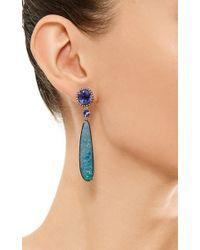 Wendy Yue - Blue Tanzanite and Diamond Earrings - Lyst