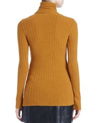 Free People | Yellow Skinny Turtleneck Sweater | Lyst