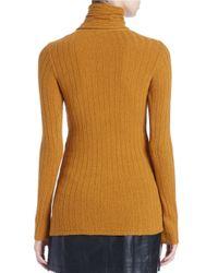 Free People - Yellow Skinny Turtleneck Sweater - Lyst