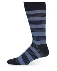Saks Fifth Avenue - Blue Feedstriped Cotton-blend Socks - Lyst
