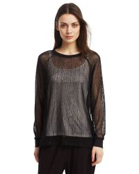 Kenneth Cole | Black Fiorella Knit Top | Lyst
