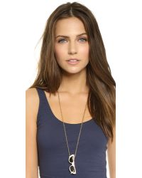 kate spade new york | Metallic Dainty Sparklers Knot Pendant Necklace - Gold | Lyst