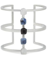 French Connection | Blue Silver-tone Multi-stone Cuff Bracelet | Lyst