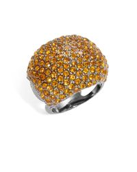 Michela | Metallic Pave Dome Ring | Lyst