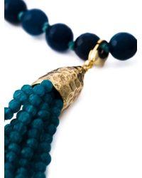 Rosantica - Blue Fringe Pendant Beaded Necklace - Lyst