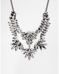 Oasis - Metallic Navette Stone Collar Necklace - Lyst
