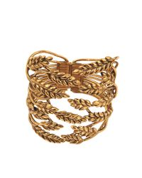Aurelie Bidermann | Metallic Wheat Cuff | Lyst