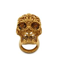 Alexander McQueen | Metallic Skull Filigree Ring | Lyst