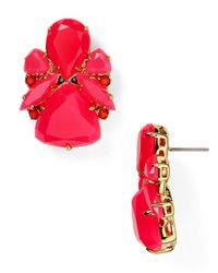 kate spade new york - Red Color Pop Statement Stud Earrings - Lyst