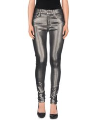 True Religion - Gray Denim Pants - Lyst