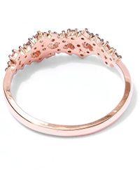 Suzanne Kalan | Pink Rose Gold Champagne Diamond Starburst Ring | Lyst