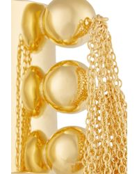 Arme De L'Amour - Metallic 3 Sphere Fringed Gold-plated Cuff - Lyst
