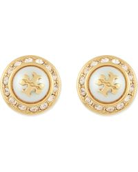 Tory Burch | Metallic Natalie Stud Earrings | Lyst