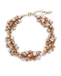 Cara - Pink Clustered Gem Collar Necklace - Lyst
