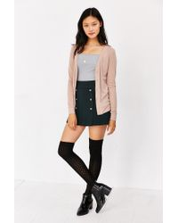 BDG - Natural Moss Cardigan - Lyst