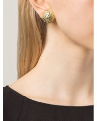 Vaubel | Metallic Puffed Woven Square Clip-on Earrings | Lyst