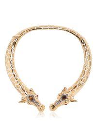 Roberto Cavalli Metallic Giraffe Necklace