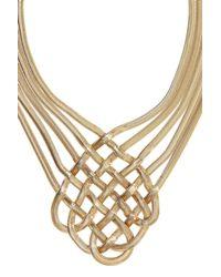 Coast | Metallic Lattice Necklace | Lyst