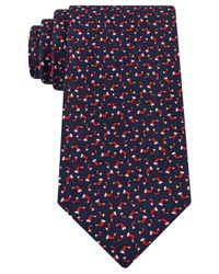 Tommy Hilfiger | Red Stocking Print Tie for Men | Lyst